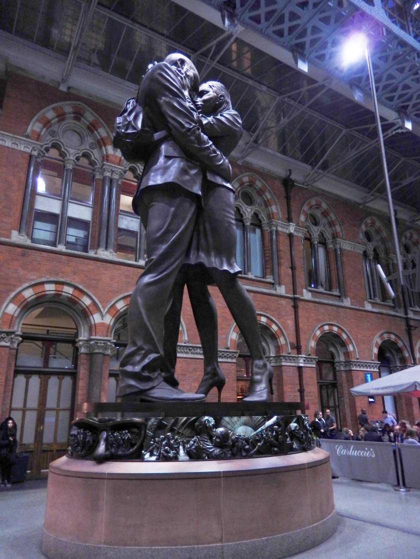 Statue at St Pancras Station